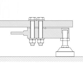 Waagenbausatz mit Scherkraftwiegezellen 4 x 1t